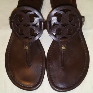 Shoes - Chocolate Tory Burch Miller sandals